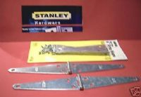 STANLEY zinc plated Strap hinges.1 pair with screws. 75-3540